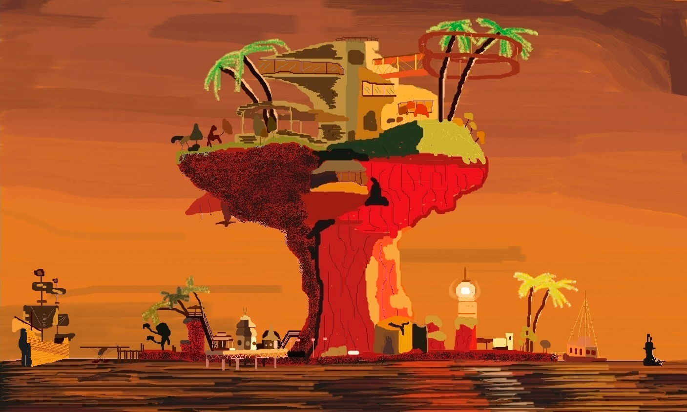 MS Paint Gorillaz Plastic Beach